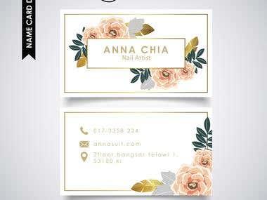 Name card design(Nail artist)