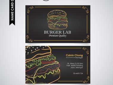 Name card design(Burger lab)