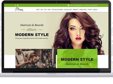 Website Design for Allure Salon