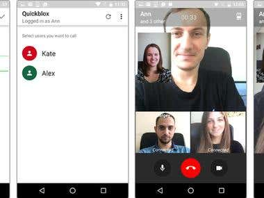 webrtc video chat android app