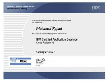 IBM Certified Application Developer - Cloud Platform V1