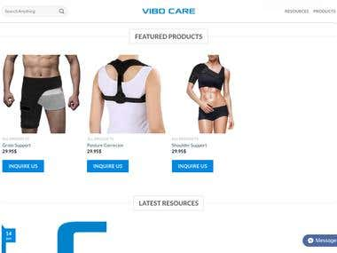Vibocare Wordpress Website