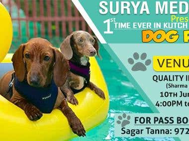 Banners for dogs pool Party