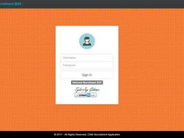 CRM Recruitment Web App