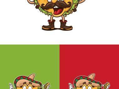 diseño de personaje tacos