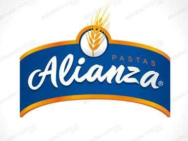 diseño de logo PASTAS Alianza