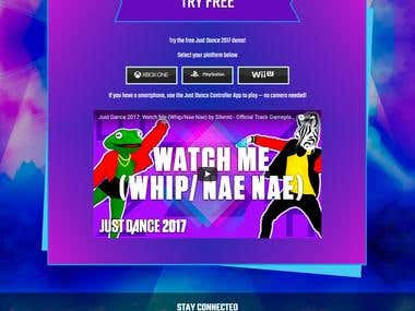 UBI Soft 'Just Dance 2015' Web page front-end-development