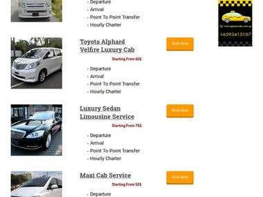 Taxi service website
