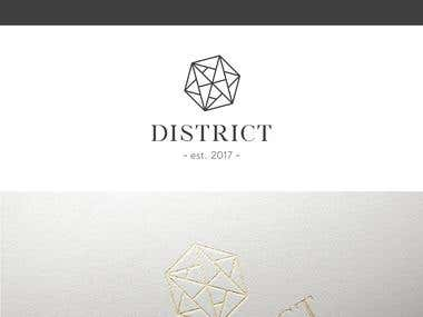 Logo concept for DISTRICT bar & restaurant