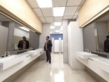 School restrooms rebuilt