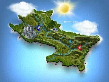 mapa infografia