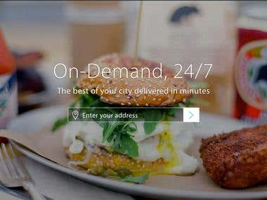 Website for Booking and Delivery the Food
