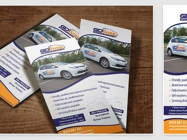 Driving school flyer design