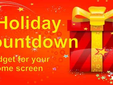 Banner for Holiday Countdown Android app
