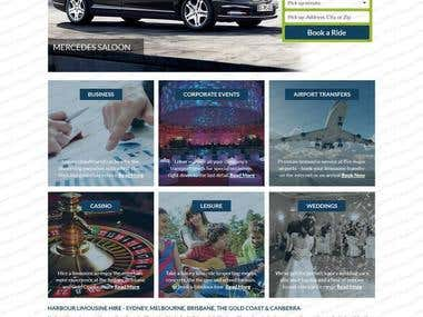 Website for Harbour Limousine