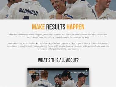 Design and development of sport website