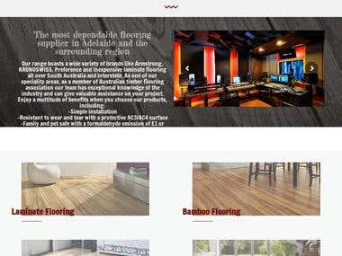 Website for Flooring company ( australian client ) Wordpress