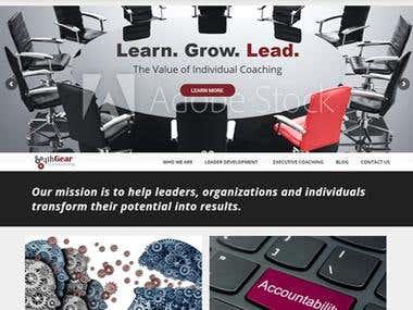 Consultancy website in WordPress