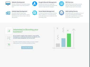 Digital Agency website develpoment