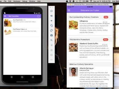 Restaurant Ionic App (Android/iOS)