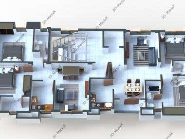 3D TOP VIEW FLOOR PLAN