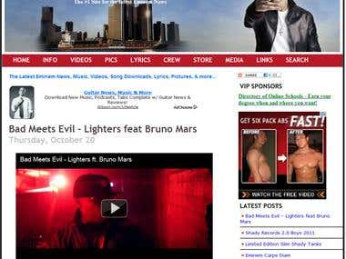 #1 Site for the latest Eminem News www.eminemlounge.com