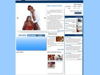 Dating Site Homepage Mockup