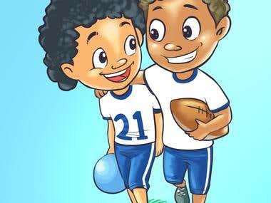 2 footballer boys