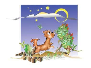 Inside children book illustratons