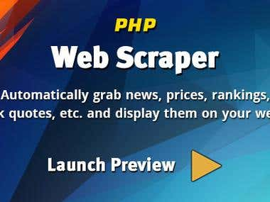 Expert in scraping and PHP scraper tools development