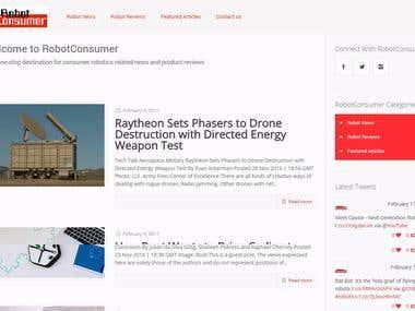 Robot Consumer Website