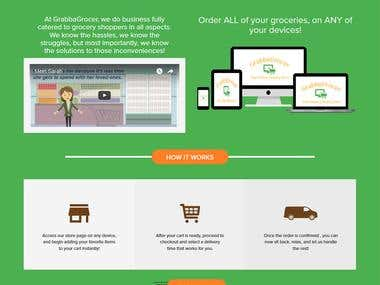Grocer ecommerce website