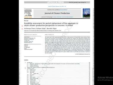 Research paper published in Journal of Cleaner Production.