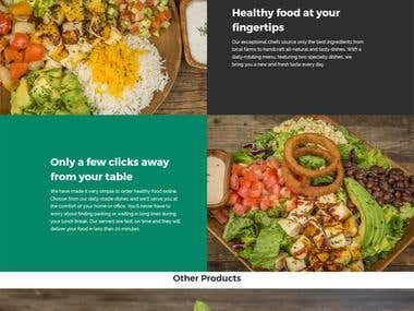 Online Food Delivery Website Shopify
