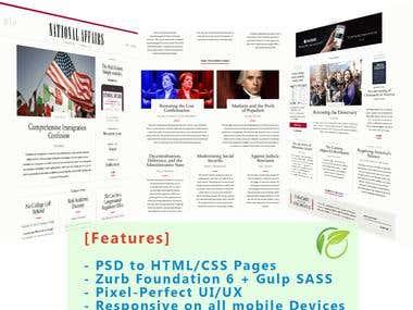 Zurb Foundation 6 - PSD to HTML