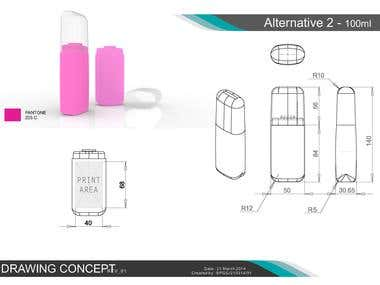Cosmetic Body Mist Bottle Concept