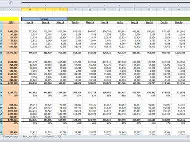 Financial Statements Forecast based on Historical Data