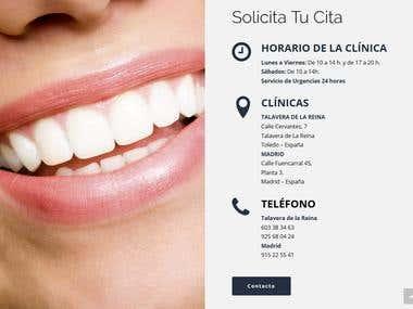 Página Web en WordPress para Clínica Dental