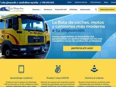 Página Web en WordPress para Autoescuela
