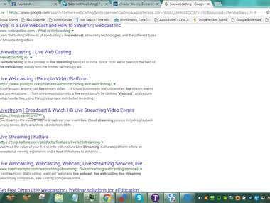 "Top 4 Ranking Google ' Live Webcasting"""