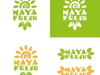 Maya Fresh logo concept