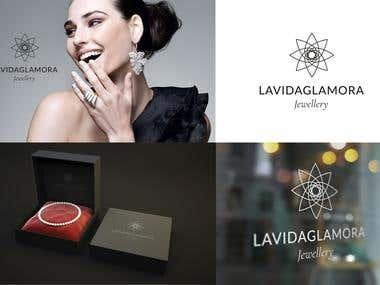 LaVidaGlamora jewerly concept logo