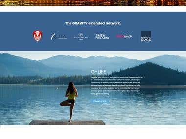 Gravity life Single product ecommerce website
