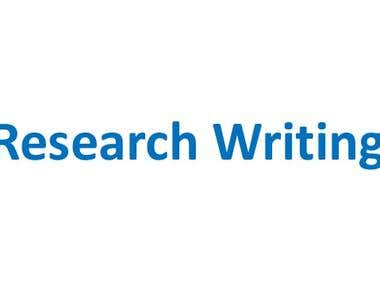Excellent Research Writing Services