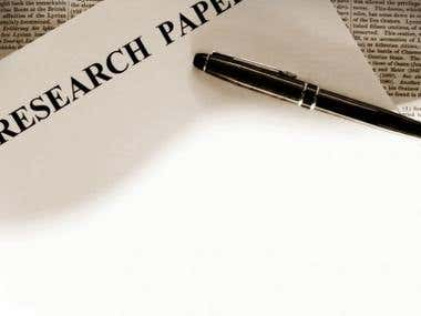 High Quality Plagiarism Free Research Papers