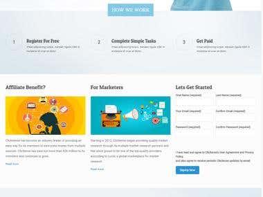Click sense web Mockup