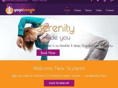 Yoga training website
