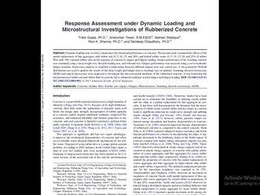 Response Assessment under Dynamic Loading and Microstructura