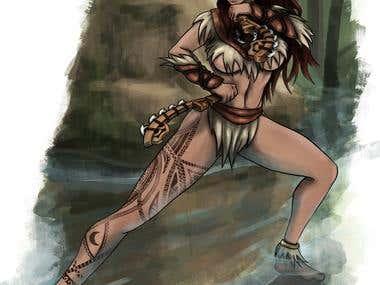 Maori Warrior character design