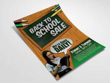 Back to School Flyer Design by Teamph